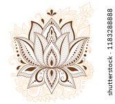 mehndi lotus flower pattern for ... | Shutterstock .eps vector #1183288888