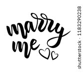 lettering marry me and hearts... | Shutterstock .eps vector #1183290238