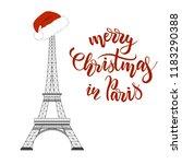merry christmas in paris... | Shutterstock .eps vector #1183290388