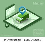 city map navigation route ... | Shutterstock .eps vector #1183292068