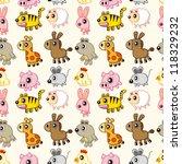 seamless animal pattern | Shutterstock .eps vector #118329232