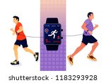 sport concept with fitness... | Shutterstock .eps vector #1183293928