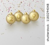 happy new year 2019 greeting... | Shutterstock .eps vector #1183294048