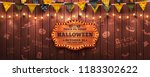 happy halloween background with ... | Shutterstock . vector #1183302622