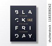 black friday stylish typography ...   Shutterstock .eps vector #1183308262