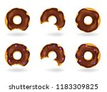 a set of colorful donuts whole...   Shutterstock .eps vector #1183309825