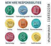 new employee hiring process... | Shutterstock .eps vector #1183312258