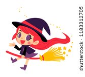 vector cute witch character... | Shutterstock .eps vector #1183312705