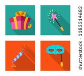 isolated object of party and... | Shutterstock .eps vector #1183314682