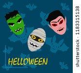 halloween autumn mask dracula...   Shutterstock .eps vector #1183315138