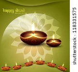 happy diwali green beautiful... | Shutterstock .eps vector #118331575