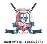 retro logo of the hockey... | Shutterstock .eps vector #1183315978