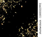 gold glossy confetti flying on... | Shutterstock .eps vector #1183322992