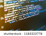 big data and internet of things ... | Shutterstock . vector #1183323778