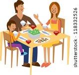 dinner | Shutterstock .eps vector #118332526