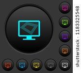 screen saver on monitor dark... | Shutterstock .eps vector #1183325548