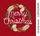 merry christmas inscription... | Shutterstock .eps vector #1183325698