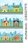 set of three vector... | Shutterstock .eps vector #1183327975
