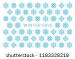 winter sale card with snow... | Shutterstock .eps vector #1183328218