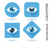 eye blue flat icons. human eyes ... | Shutterstock .eps vector #1183329988
