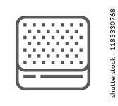 mattress vector line icon | Shutterstock .eps vector #1183330768