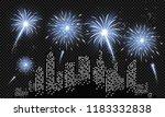 festive patterned fireworks in...   Shutterstock .eps vector #1183332838