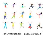 people in different poses.... | Shutterstock .eps vector #1183334035