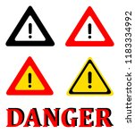 attention danger signal icon... | Shutterstock .eps vector #1183334992