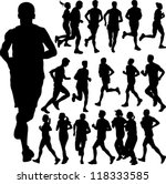running people set vector 2