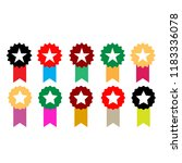 set flat icon medal | Shutterstock .eps vector #1183336078