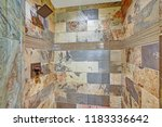 large walk in shower with... | Shutterstock . vector #1183336642