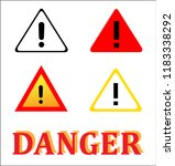 attention danger signal icon... | Shutterstock .eps vector #1183338292