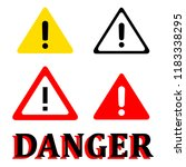 attention danger signal icon... | Shutterstock .eps vector #1183338295
