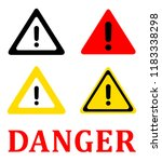 attention danger signal icon... | Shutterstock .eps vector #1183338298