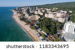 aerial view of the beach and... | Shutterstock . vector #1183343695