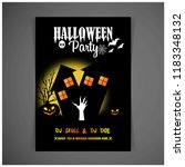 halloween party invitation... | Shutterstock .eps vector #1183348132