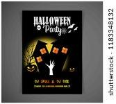 halloween party invitation... | Shutterstock .eps vector #1183348132