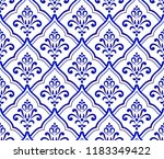 blue and white royal baroque... | Shutterstock .eps vector #1183349422