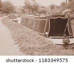 grand union canal man made... | Shutterstock . vector #1183349575