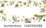 christmas frame with spruce... | Shutterstock . vector #1183356388