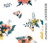 seamless floral pattern.flowers ... | Shutterstock .eps vector #1183358338