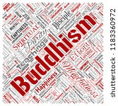 vector conceptual buddhism ... | Shutterstock .eps vector #1183360972