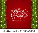 greeting card with christmas... | Shutterstock .eps vector #1183361038
