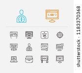 optimization icons set. web...