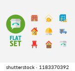 property icons set. residential ...