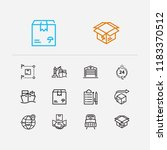 logistics icons set....