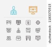seo icons set. web development...
