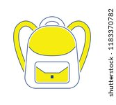 icon of school rucksack. thin... | Shutterstock .eps vector #1183370782