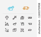 shipment icons set. train...   Shutterstock . vector #1183370908