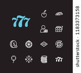gambler icons set. gamble... | Shutterstock .eps vector #1183373158